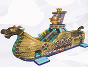 Sea monster pirate boat