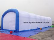 Inflatable tent house